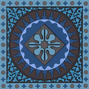 Coaster Mosaic Blue